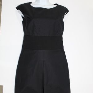 Piazza Sempione Black Stretch Sleeveless Dress 38